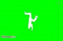 Breakdancer Silhouette Image