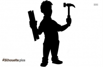 Male Construction Worker Silhouette Art