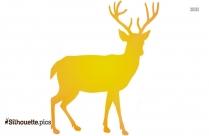 Male Deer Clip Art Silhouette