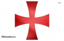 Cross Symbol Silhouette Clipart