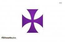 Maltese Cross Clip Art Silhouette