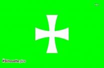 Maltese Cross Silhouette Vector