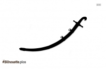 Mameluke Sword Silhouette Image