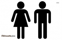 Man And Woman Stick Figure Silhouette