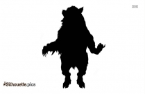 Man Bear Silhouette