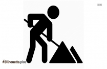 Man Digging Silhouette Picture