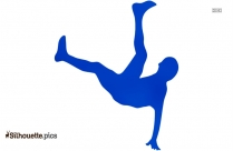 Man Falling Down Silhouette Vector