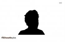 Head Profile Silhouette, Face Side View Clip Art