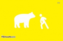 Man In Front Of Bear Silhouette