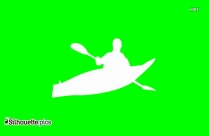 Man In Kayak Silhouette Clipart