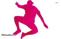 Man Jumping Silhouette Vector, Clipart