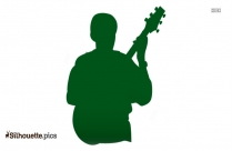 Man Playing Guitar Silhouette Image