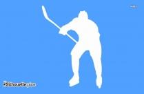 Man Playing Hockey Silhouette Image