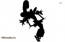 Man Pulling His Hair Silhouette Free Vector Art
