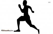 Cartoon Man Running Clip Art Silhouette