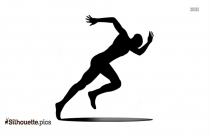 Man Running Icon, Silhouette