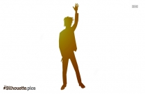 Man Saying Hi Silhouette Vector And Graphics