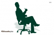 Man Sitting In Chair Silhouette Free Image