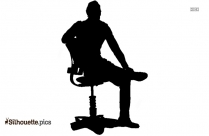 Boy Sitting Silhouette Illustration