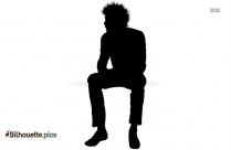 Waiting Room Icon Silhouette Illustration