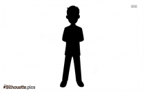 Man Standing Alone Silhouette Drawing