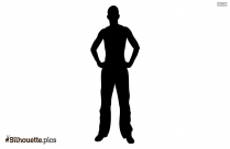 Man Standing Silhouette Clipart