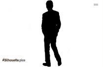 Man Walking Away Silhouette Clipart Image