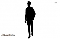 Cartoon Person Walking Silhouette