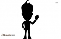 Fat Stick Man Vector Silhouette