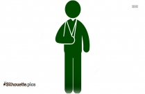 Man With Broken Arm Clipart Silhouette