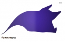 Black And White Manta Ray Silhouette
