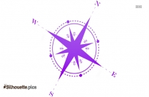 Compass North Silhouette Free Vector Art