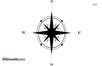 Map Compass Silhouette Vector And Graphics