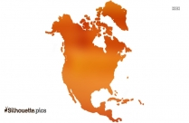 Map Of North America Silhouette