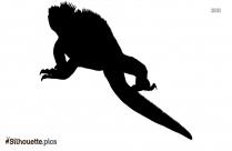 Marine Iguana Silhouette Art