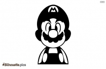 Mario Character Vector Silhouette