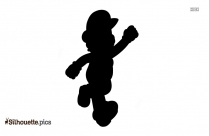 Flying Squirrel Mario Silhouette Free Vector Art