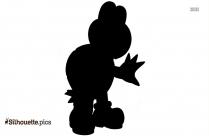 Mario Turtle Silhouette Black And White