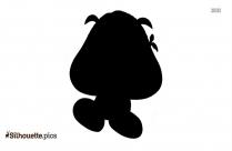 Mario Goomba Silhouette