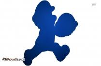 Toad Mario Vector Silhouette
