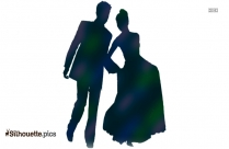 Married Couple Dancing Clipart Silhouette