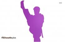 Boy Kicking Silhouette Illustration, Martial Arts Clipart Icon