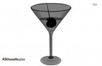 Cocktail Party Clip Art Silhouette