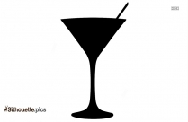 Black And White Cocktail Glass Silhouette