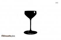 Wine Glass Silhouette Vector Picture
