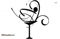 Black Cocktail Drink Silhouette Image