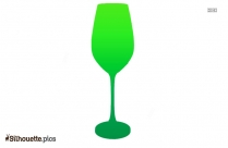Martini Glass Silhouette Drawing