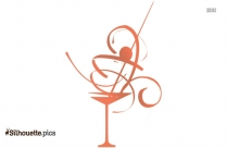 Martini Glass Silhouette Image And Vector