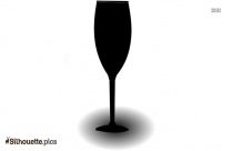 Black And White Wine Glass Silhouette