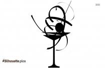 Martini Glass Silhouette Free Vector Art